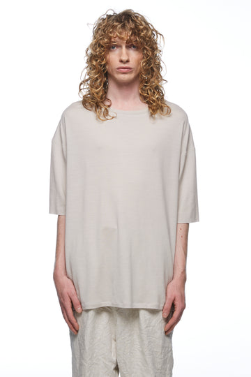 Mushroom Merino Drop Shoulder T-Shirt