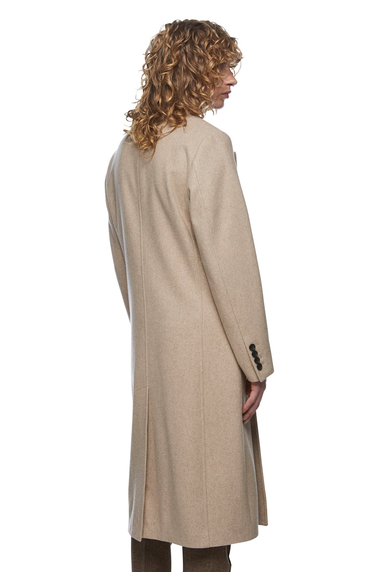 Oatmeal Double Breasted Overcoat