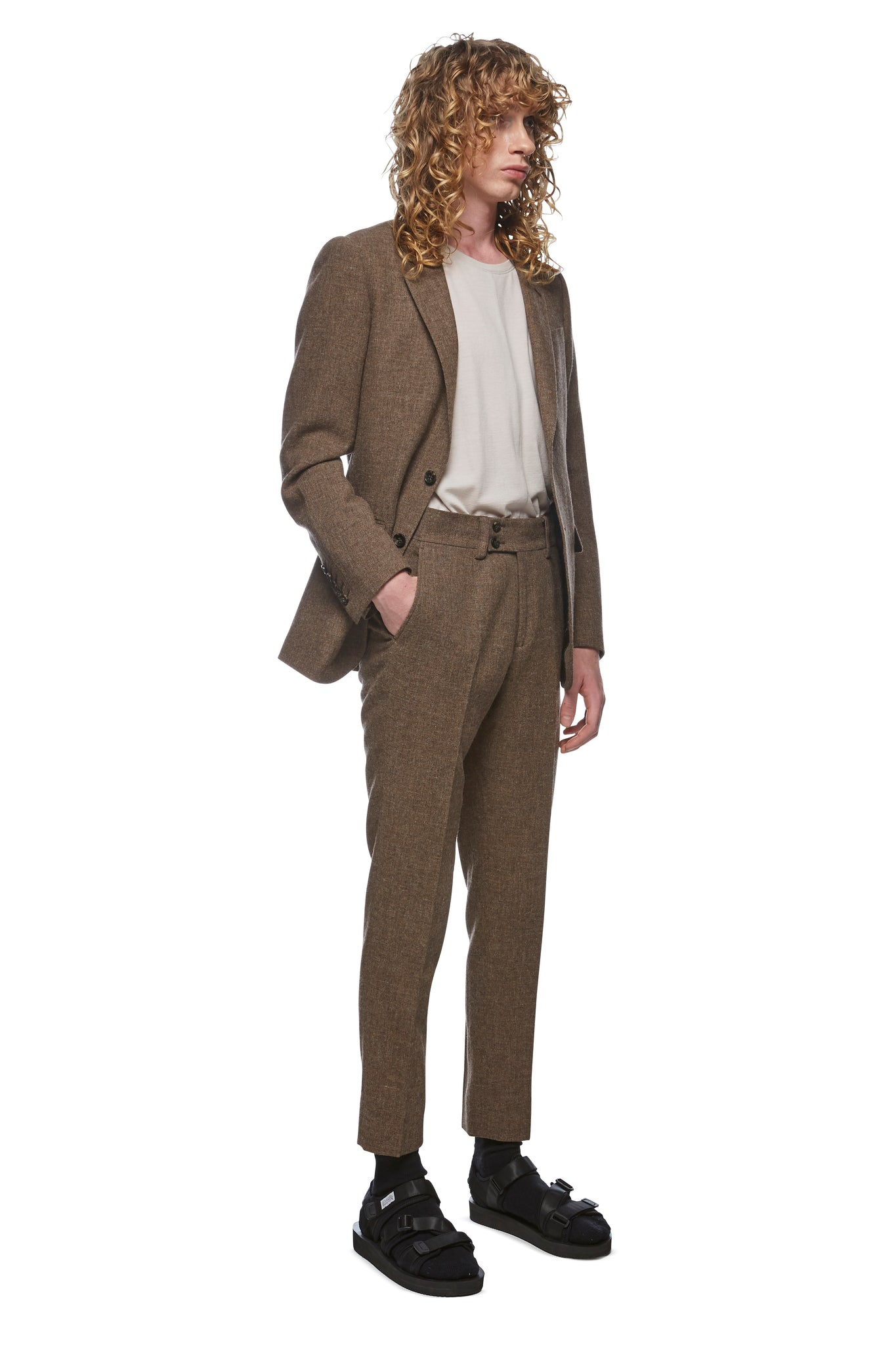 Hessian Single Breasted 2 Button Blazer