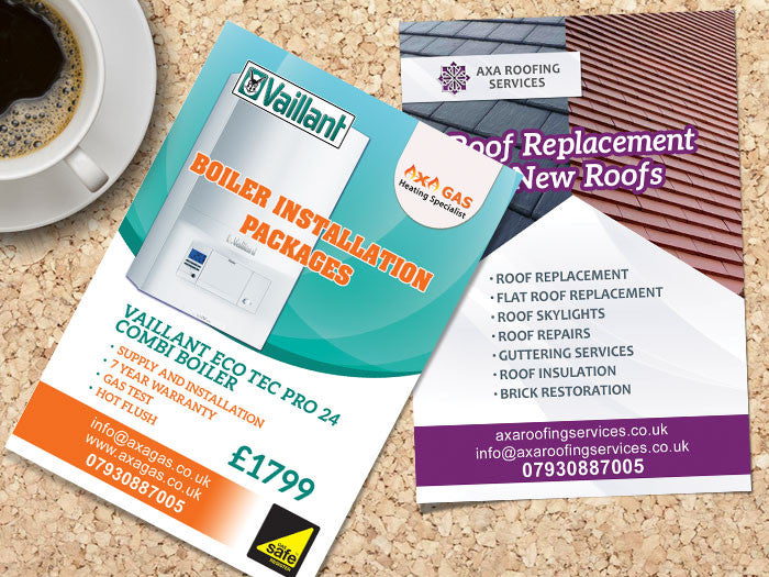 A7 Gloss Laminated Flyers (320gsm board)