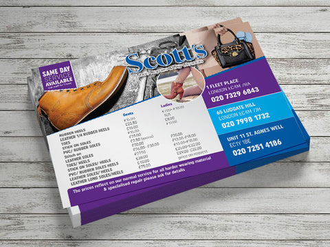 A6 Gloss Laminated Flyers (320gsm board)