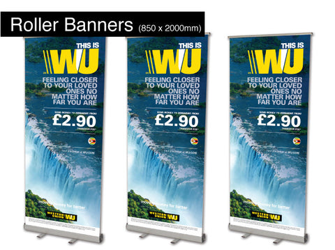 Roller Banners 850mm x 2000mm