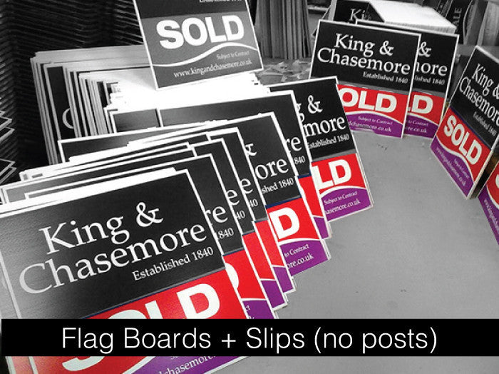 Flag Boards + Slips (No Posts)