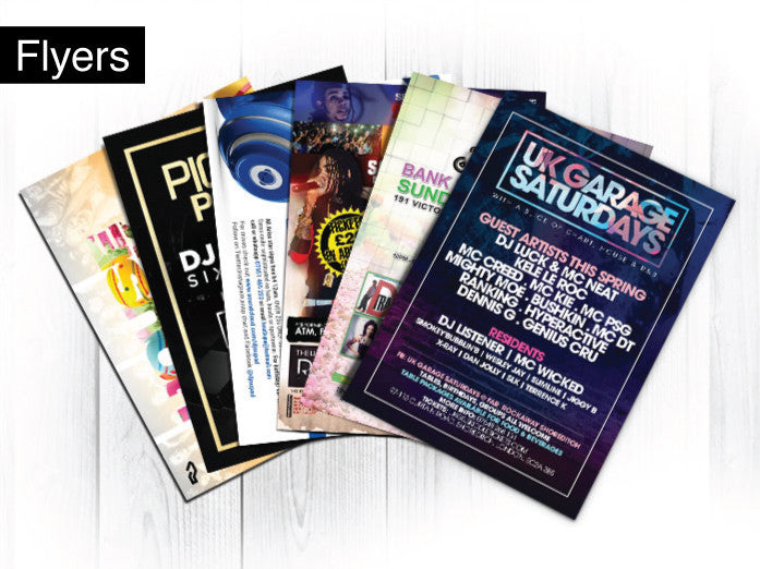A7 Standard Card Flyers (320gsm no lamination)