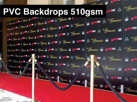 PVC Backdrop Banners 510gsm