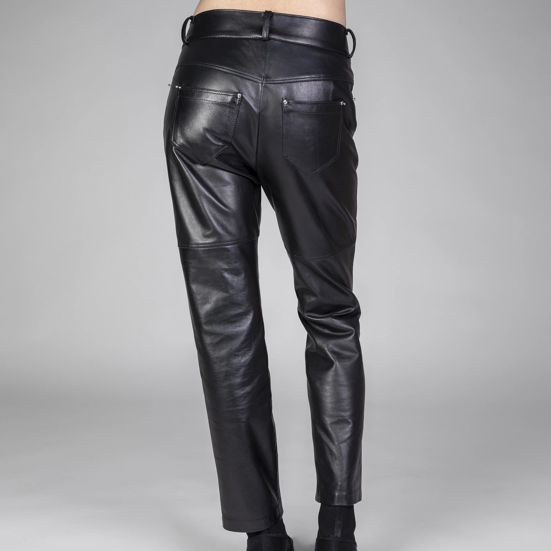 LEATHER BOYFRIEND PANTS