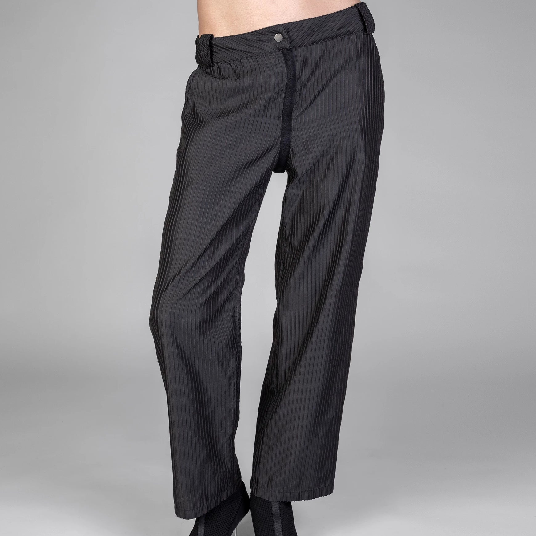3D PINSTRIPE TROUSERS