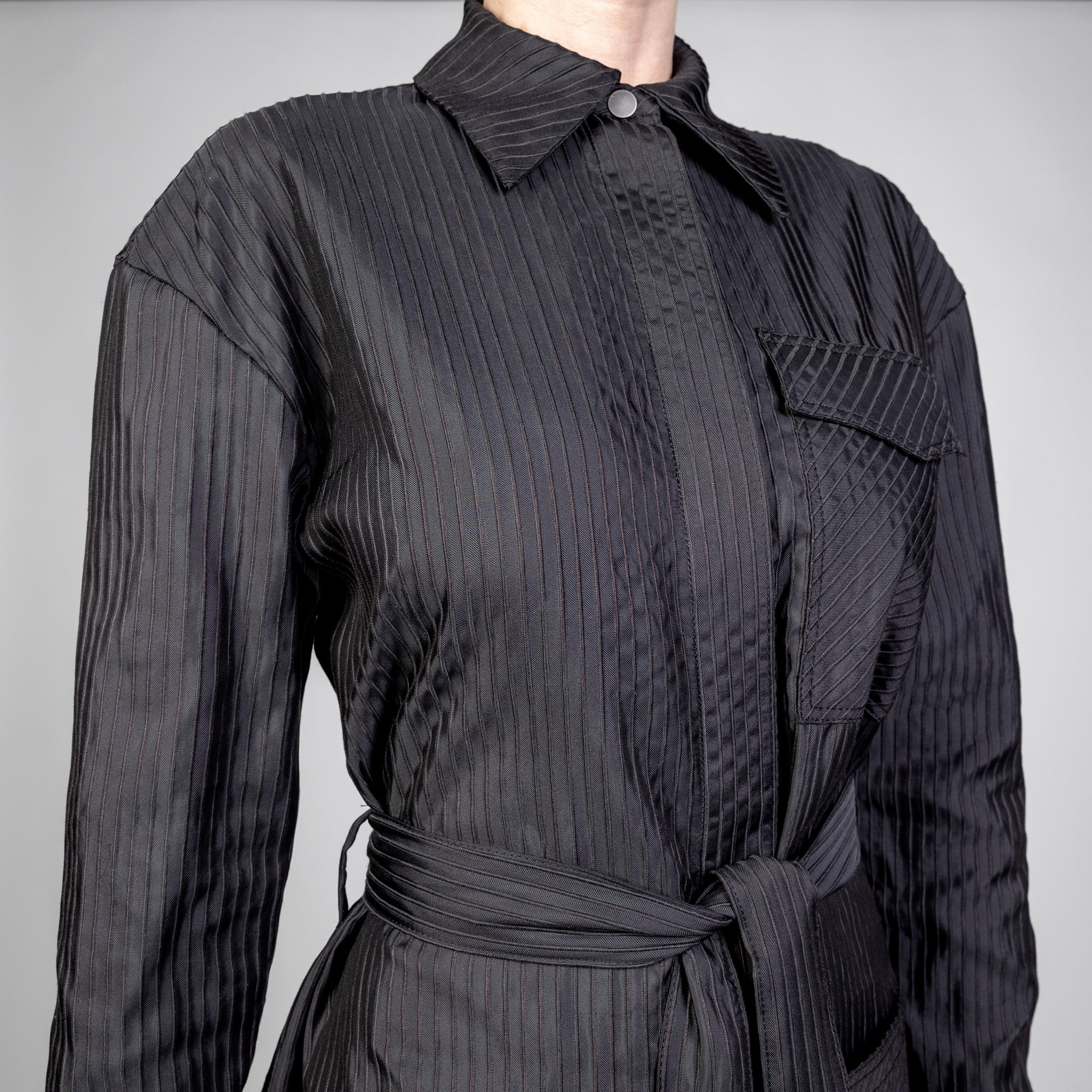 3D Pinstripe Dress