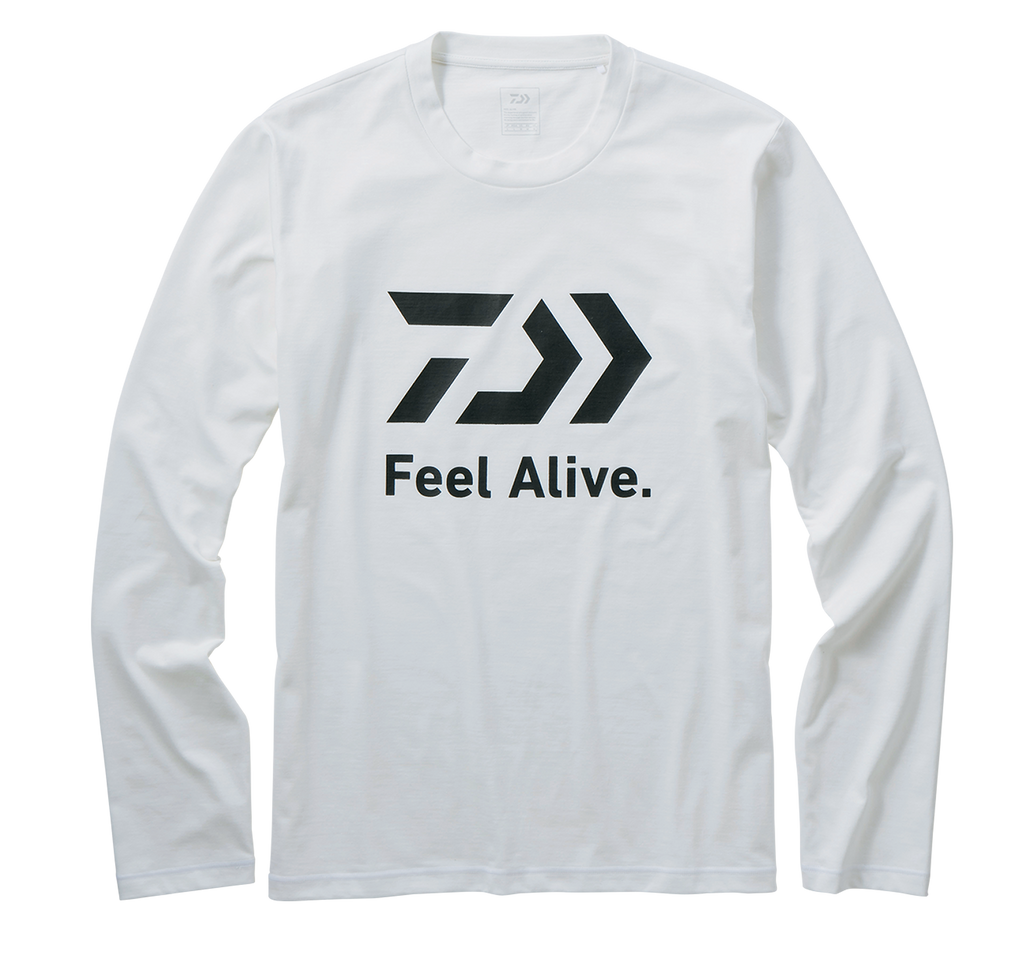 DAIWA L/S FEEL ALIVE T SHIRT DE-82009 WHITE