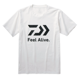 2020 DAIWA FEEL ALIVE S/S T SHIRT DE-83009 WHITE