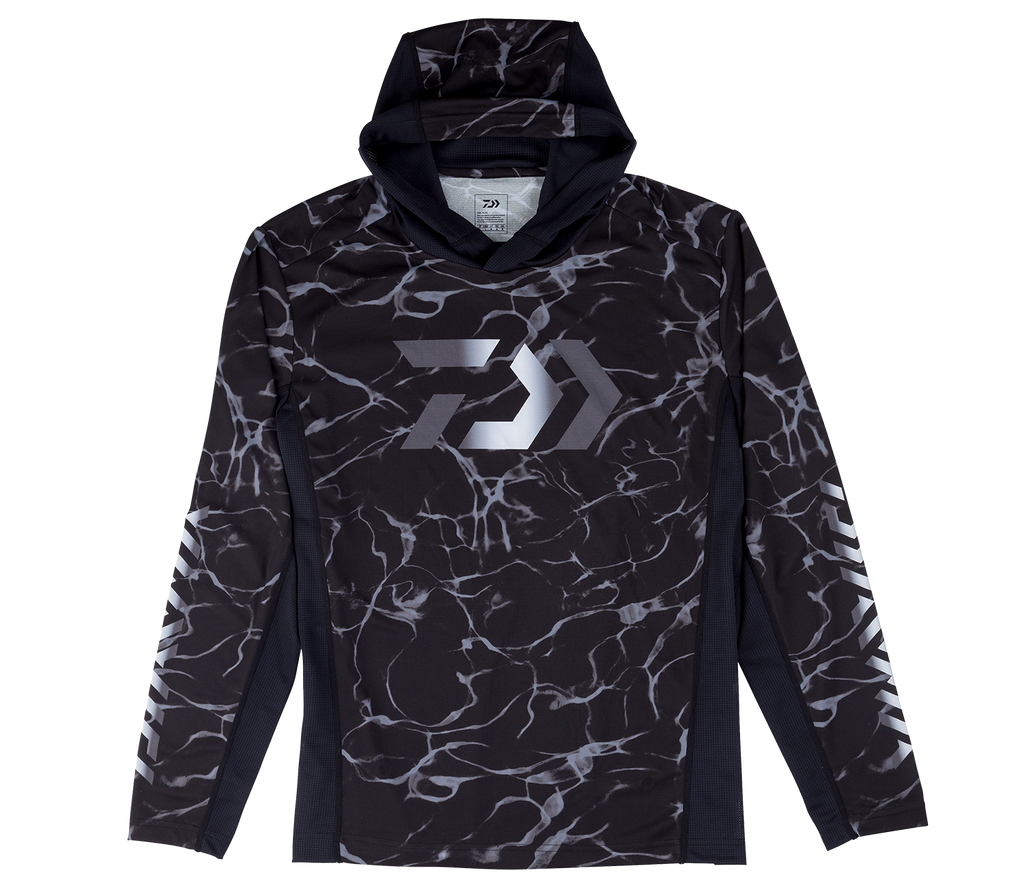 DAIWA SPLASH FISHING SHIRT WITH HOOD- BLACK DE-37009