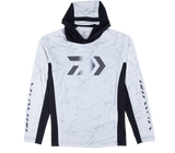 DAIWA SPLASH FISHING SHIRT WITH HOOD- WHITE DE-37009