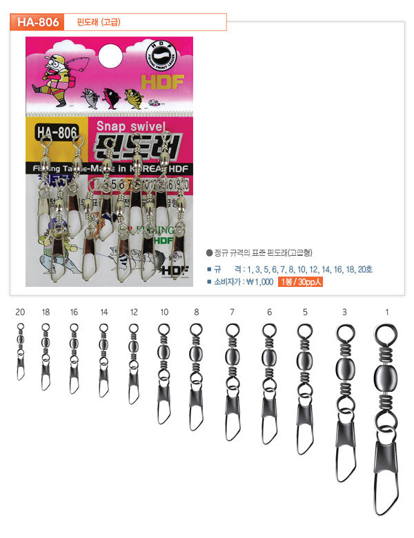 HDF High Quality Snap Swivel HH-806