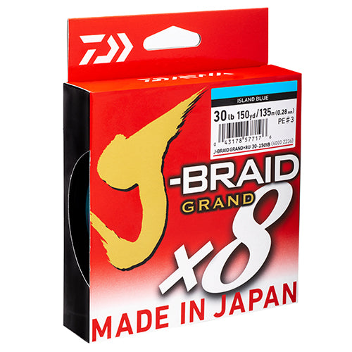 Daiwa J Grand x8 Braid Line PE 135m 150yd Island Blue