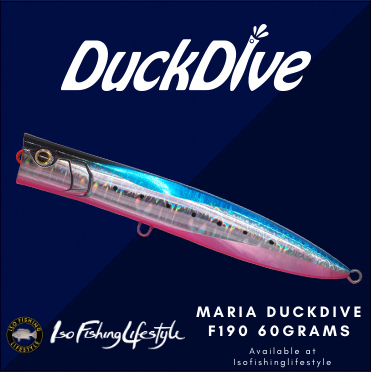 Pre-order Maria Duck Dive F190 60grams floating popper