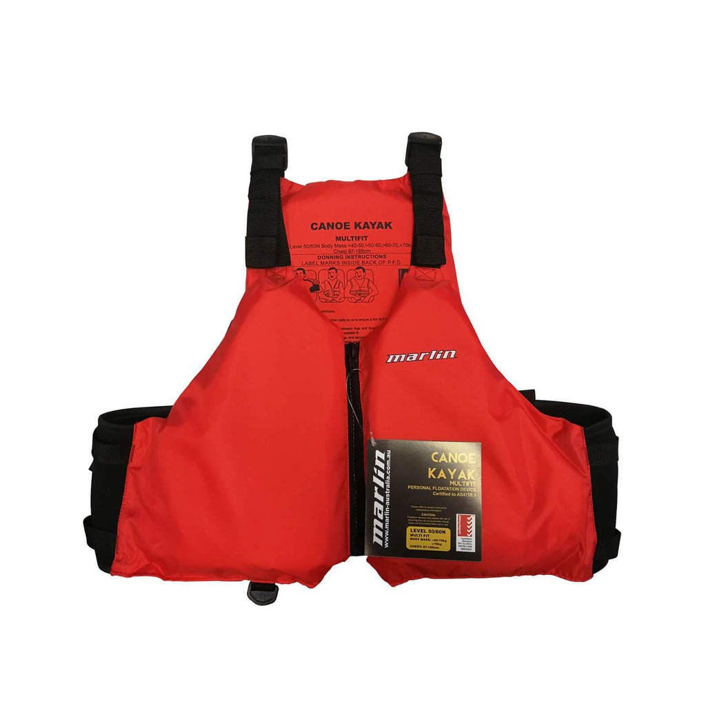 Marlin Kayak Canoe Multi Fit PFD Life Vest Red