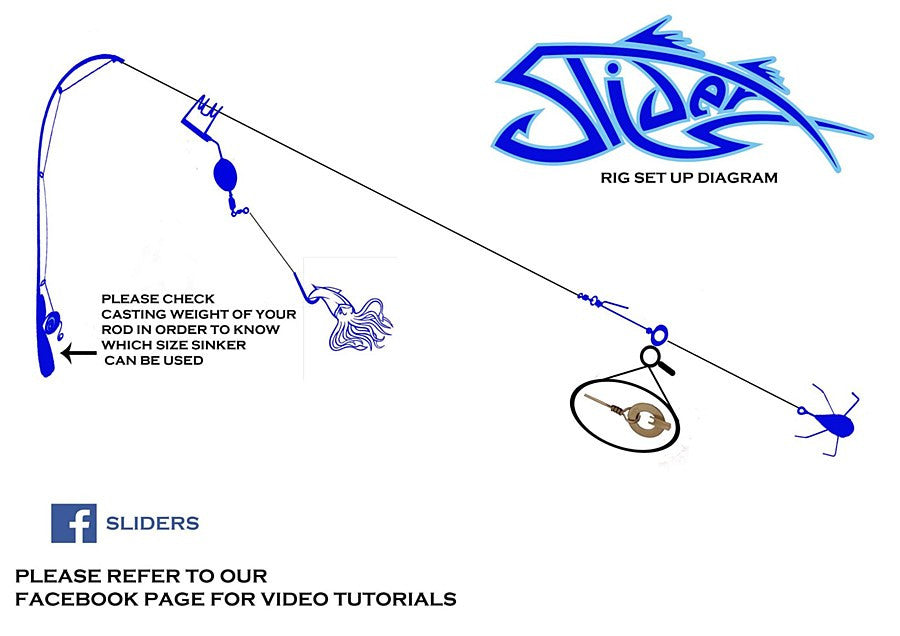 Sliders One Way Slider Set + Grapnel Sinker