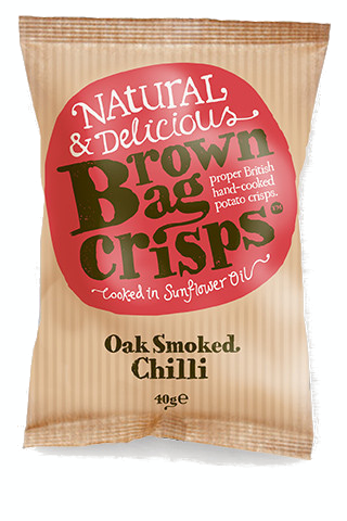 OAK SMOKED CHILLI BROWN BAG CRISPS 20x40g