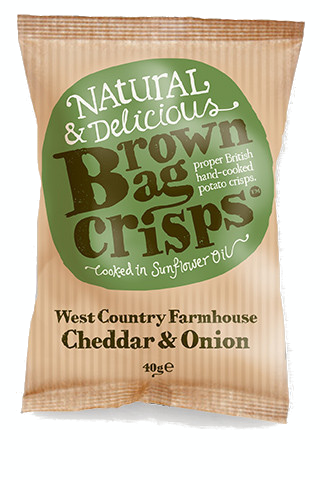 CHEDDAR AND ONION BROWN BAG CRISPS  20x40g