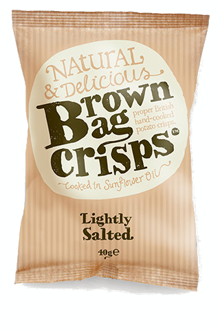 LIGHTLY SALTED BROWN BAG CRISPS 20x40g