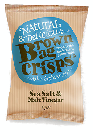 SALT AND VINEGAR BROWN BAG CRISPS 20x40g