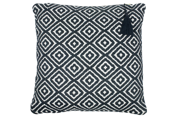 Lulu Grey Diamond Cushion