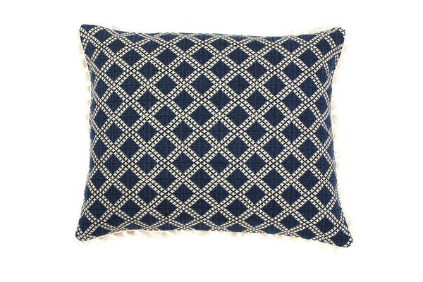 Ava Indigo Diamond Cushion - Ondine Ash