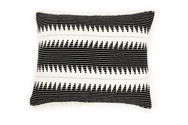 Ava Stripe Cushion - Ondine Ash