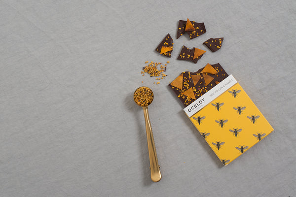 Bee Pollen and Mango Dark Chocolate Bar