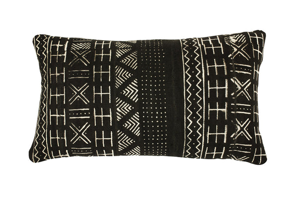 Mud Cloth Black Bolster Cushion [last one!]