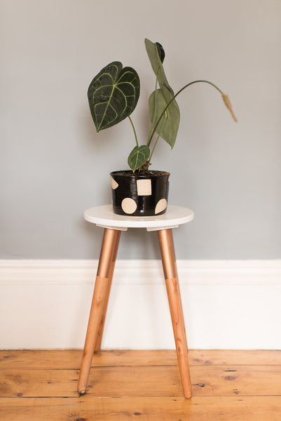 Large Black Plant Pot