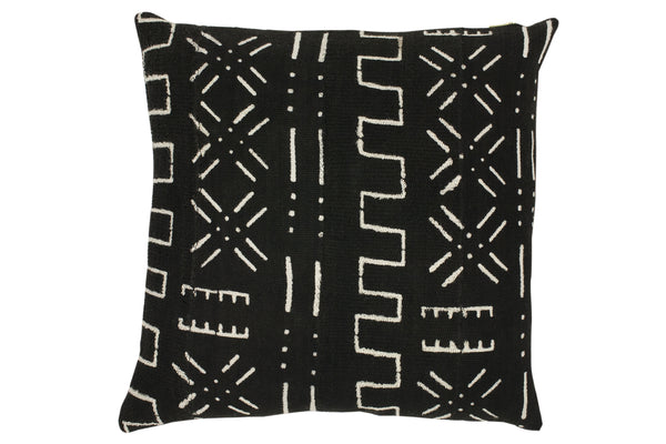 Esther Black Mud Cloth Cushion
