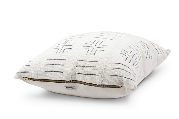 Esther White Mud Cloth Cushion