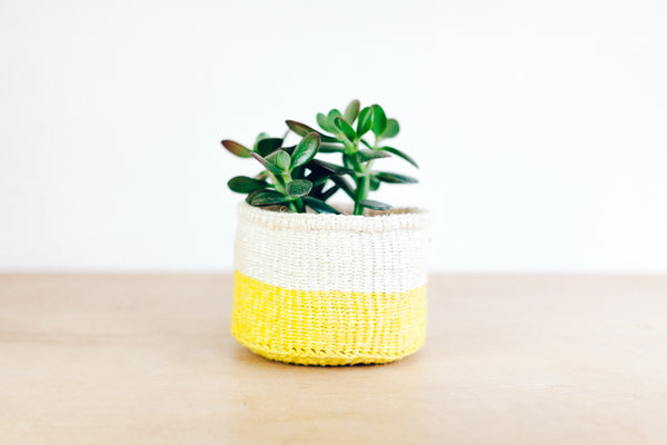 Colourblock Yellow Basket