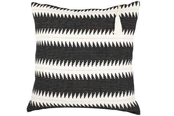 Lulu Stripe Cushion - Ondine Ash