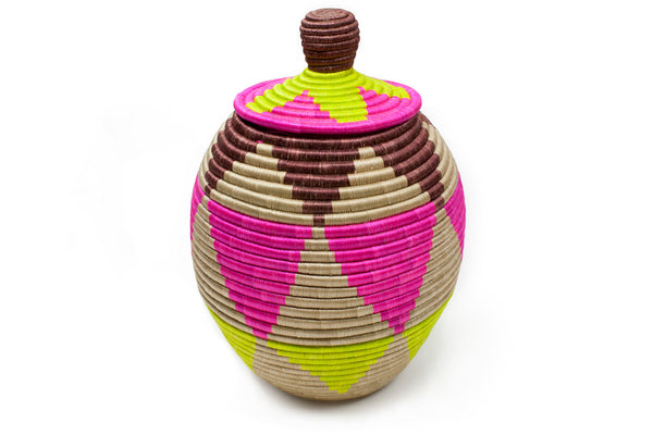 Coloured Large Floor Basket