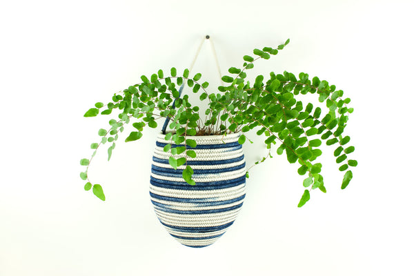 Hanging Basket Stripe Indigo