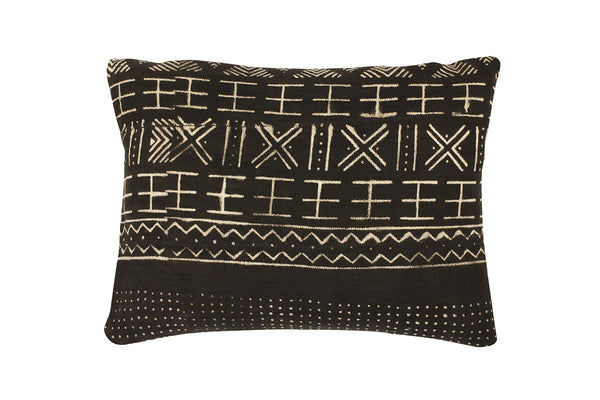 Emily Black Mud Cloth Cushion