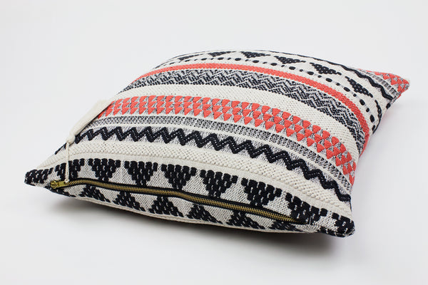 Lulu Coral Stripe Cushion