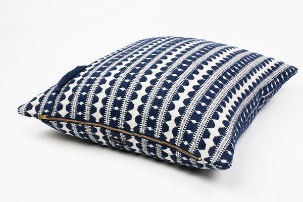 Lulu Navy Stripe Cushion