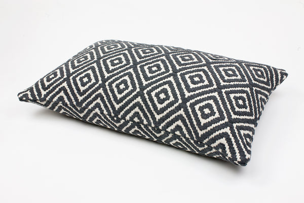 Iris Grey Diamond Cushion