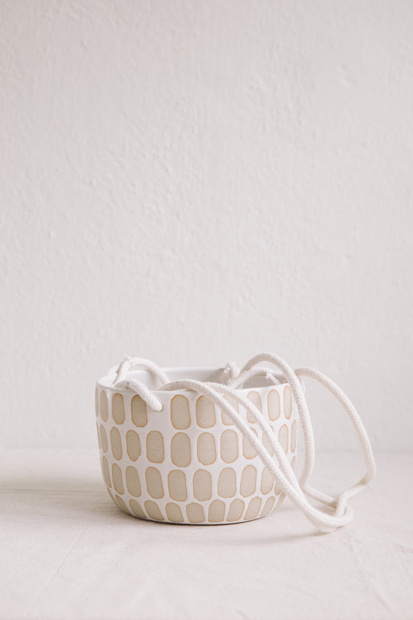 Hannah Bould Hanging Plant Pot (Linear Dot)