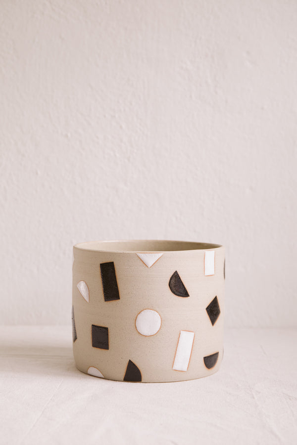 Large Monochrome Plant Pot