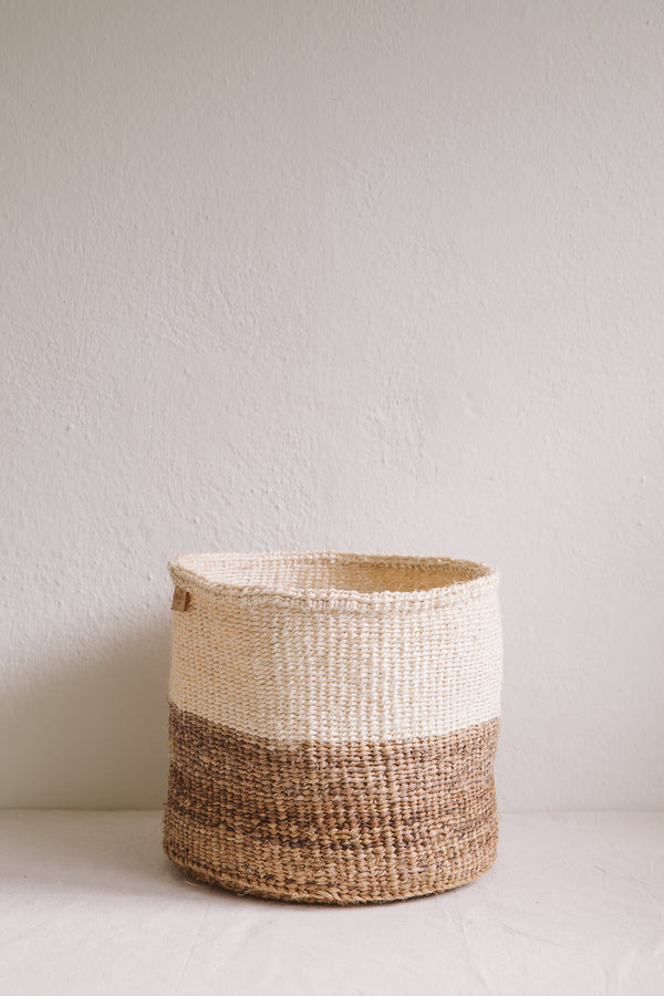 Colourblock Natural Basket