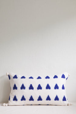 Frida Indigo Triangle Cushion