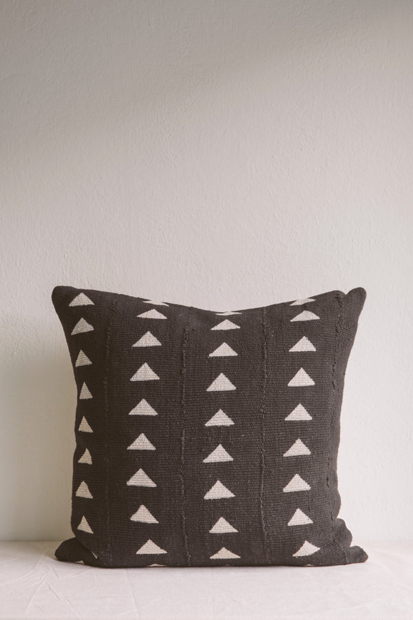 Esther Black Triangle Mud Cloth Cushion