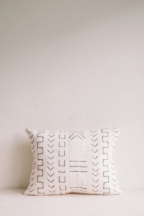 Emily White Mud Cloth Cushion