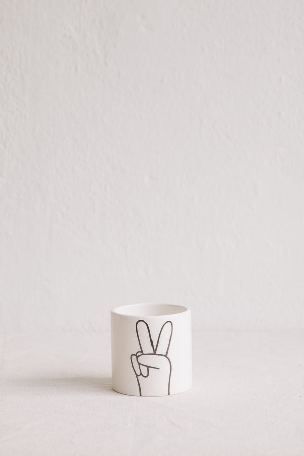 'Peace' Mini Pot