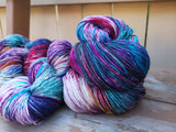 Tie Dye LOT #603 Fingering Cash Hand Dyed Yarn