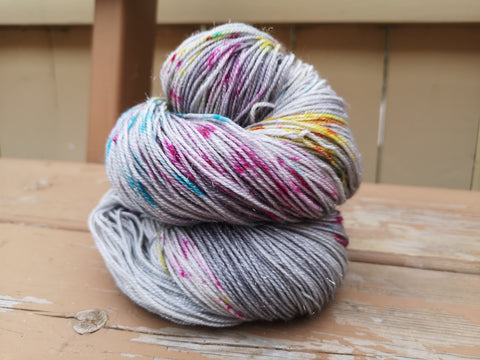 Dewy Morning Fingering Weight Sparkle Yarn